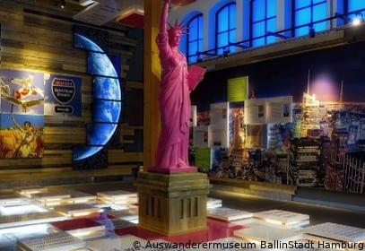 Freiheitsstatue im Auswanderermuseum BallinStadt in Hamburg
