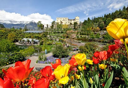 Die Gärten von Schloss Trauttmansdorff in Meran, Südtirol