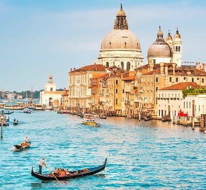 venezianische Gondel in Venedig
