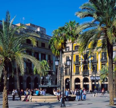 Historisches Viertel in Barcelona, Spanien