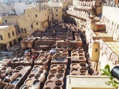 Marokko Gruppenreise mit Gebeco -Fès Gerberei