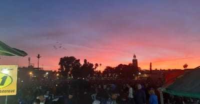 Marokko Sonnenuntergang Gauklerplatz