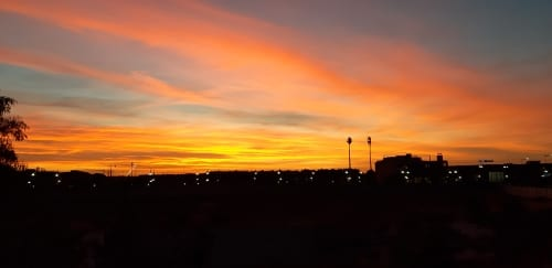 Marokko Sonnenuntergang Marrakesch