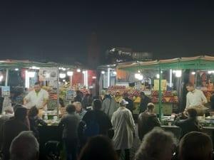 Marokko Stände Gauklerplatz