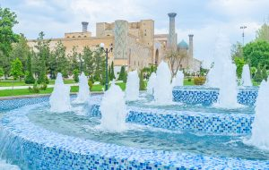 Usbekistan, Samarkand. Registan Platz
