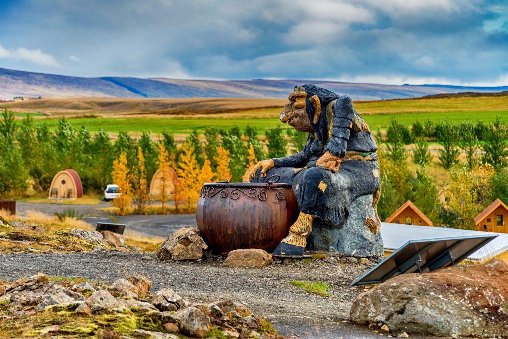 Trollstatuen in Island