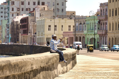 Musiker am Malecon Havanna